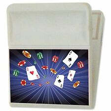 Casino Playing Cards Dice Poker Refrigerator Magnet Clip 3DLenticular #MC02-953#