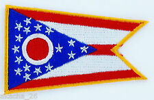 Ecusson Brodé PATCH drapeau OHIO USA AMERICAIN ETATS UNIS FLAG EMBROIDERED