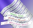 36 Woven Sew in School Name Tapes Name Tags Labels - High Quality School Labels