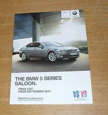 BMW 5 Series F10 Saloon Prices 2011 - 523i 528i 535i 550i 520D 525D 530D SE
