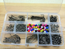 Sea Fishing Rig Set.Makes 50 + Rigs,Beads/Swivels/Crimps/Hooks + Free Gift.