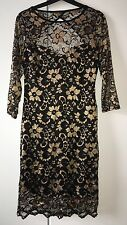 Atm - Black & Gold Lace Dress -
