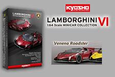 KYOSHO Lamborghini Minicar Collection 6 1/64 Veneno Roadster red metallic 8-1
