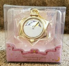 Sailor Moon Miniaturely Tablet 4 Manga Tuxedo Mask Pocket Watch Keychain Charm
