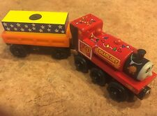 Authentic Wooden Thomas Train Puppet Show Skarloey & Cargo Car! RARE!