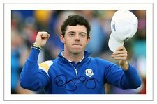RORY MCILROY EUROPE 2014 RYDER CUP SIGNED PHOTO PRINT GOLF AUTOGRAPH