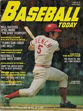 1977 BASEBALL TODAY -CINCINNATI REDS JOHNNY BENCH ON THE FRONT COVER