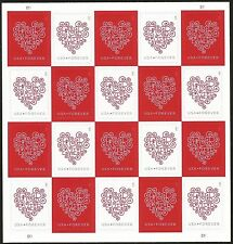 USPS forever stamp heart 20x50 total 1000