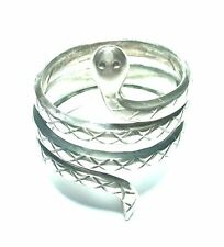 KALEVALA KORU KK Finland - Beautiful Sterling Silver Snake Ring - size 7 1/2