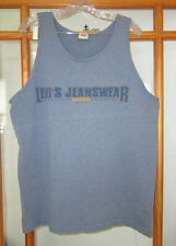 Vintage Levi's Jeanswear Tank Top Sleeveless Shirt Men's Large USA Made