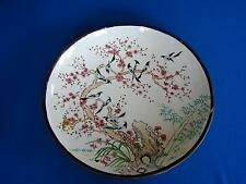 "ANTIQUE 14"" CHINESE CANTON ENAMEL ON COPPER CLOISSONE CHARGER PLATE"