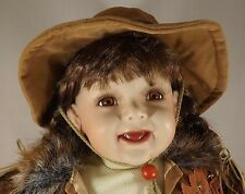 "Cathay Collection cowgirl Doll 20"" Porcelain"