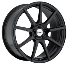 17x8 TSW Interlagos 5x112 Rims +45 Black Rims Fits VW cc eos golf rabbit