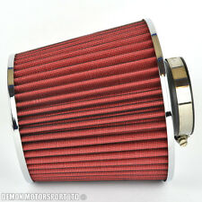 "Universal Mesh Twin Cone Air Filter Red 70mm / 2.75"" inch Inlet (P/N 76272)"