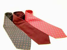 LOT OF 3 MEN'S NECK TIES GANT TJW EXECUTIVE COLLECTION DON LOPER SILK + MORE