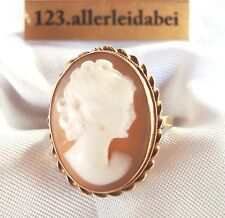 Zauberhafter Gemme Ring 750 er Rotgold Gold Kamee Cameo / RR 075