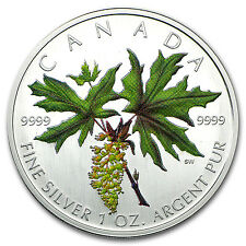 2005 Canada 1 oz Silver Maple Leaf Colored (Broadleaf Maple) - SKU #93251