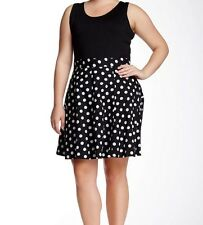 NWT Amanda & Chelsea – Polka Dot Circle Skirt Plus size 16W $98.00 New