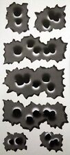 7 Rapid Fire Style Bullet Hole Vinyl Sticker Graphic Decal Car Stickers 25 holes