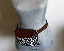 Women's Black & White Aztec Print Hip Hugger Fanny Pack