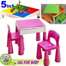 5in1 Multi Use Table and 2 Chairs Set for Children 3+ Activity ,Lego, Water Baby