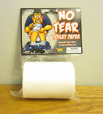 1 ROLL OF NO TEAR TOILET PAPER FAKE GAG GIFT PRANK JOKE