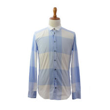 Dolce & Gabbana 'Gold' Plaided White/Blue Dress Shirt US 15.75 EU 40