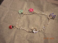 NIB Garden Beauty Flower Bracelet - 7 inch - very cute!