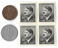Rare Old Vintage Wartime WWII Nazi Germany Coin Stamp Collection War Lot uk us