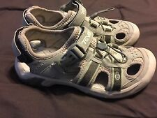 TEVA Womens Size 7 Omnium 6154 Gray/Olive Hiking Sandals Shoes