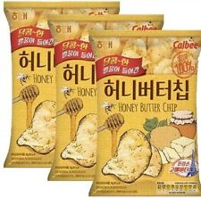 3Packs Haitai Honey Butter Chips Calbee(60gx3) Best Korean Snack Potato Chips