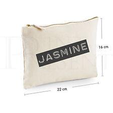 Personalised Make Up Bag (22cm x 16cm) 'Retro B&W'