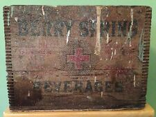 Antique Vintage 1920's Wooden Berry Spring Beverages Pawtucket RI Box Crate