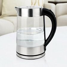 Smal Tea Maker Electric Kettle D Lux 1.7L WK-0815 1500W Silver Brand New