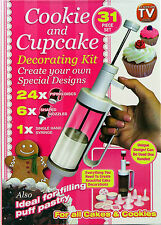 CUP CAKE 31PIECE SET DECORATE KIT BIRTHDAY XMAS FROSTING DECORATOR ICING PEN