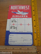 1952 Northwest Airlines airplane ticket and boarding booklet Butte Montana Shell