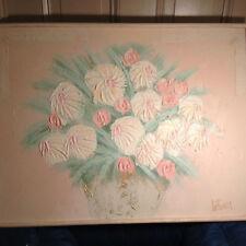"""Huge Lee Reynolds Original """"Floral"""" Oil Painting- Framed And Signed"""
