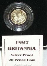 Royal Mint 1997 Boxed With COA Silver Proof 20p Twenty Pence Coin  BRITANNIA