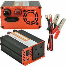 300W POWER INVERTER - 12V DC TO 230V AC & USB - CAR CARAVAN - CONVERTER ADAPTER