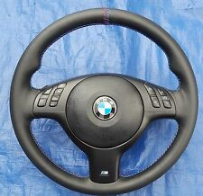 BMW E39 E46 E38 E53 M3 Multfunction Leather MTech Sport Steering Wheel 99-05