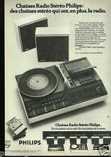 Publicité advertising 1975  Chaines Hi-Fi Radio Stereo Philips