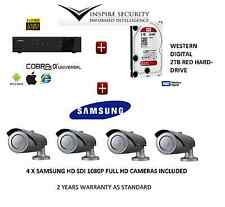 FULL 1080P HD-SDI 4 x SAMSUNG FULL HD CCTV KIT FOTOCAMERA +4 CHANNEL NETWORK DVR