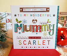 Mummy Christmas card. Personalised Christmas card Mummy or Mum Special Christmas
