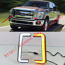 2x LED DRL Daytime Running Lights w/Turn Signals For Ford F-250 Raptor 2012-2015