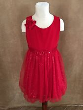 8 Child size My American Girl sparkle red party dress holiday matching doll