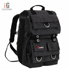 EIRMAI Charcoal Gray Canvas Professional Backpack Bag Photographer Equipment Bag