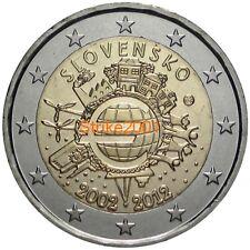 2 EURO COMMEMORATIVO SLOVACCHIA  2012 10° Anniversario