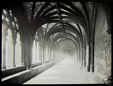Glass Magic Lantern Slide NORWICH CATHEDRAL CLOISTERS C1890 PHOTO ENGLAND