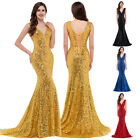 Mermaid + Sequins Long Wedding Prom Evening Formal Gown Party Bridesmaids Dress