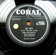 0829/ BUDDY HOLLY and the Crickets-Oh Boy-Not fade away-R´n`R-Schellack